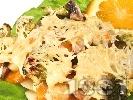 Рецепта Задушени зеленчуци (броколи, моркови, картофи, тиквички, гъби) с кашкавал на фурна